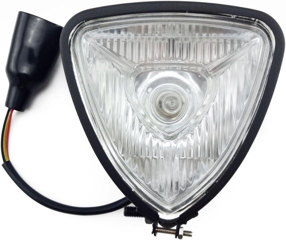 TASWK Motorcycle Headlight 12V High Low Beam H6 35//35W Bulb Bobber Chopper Cafe Racer Brat