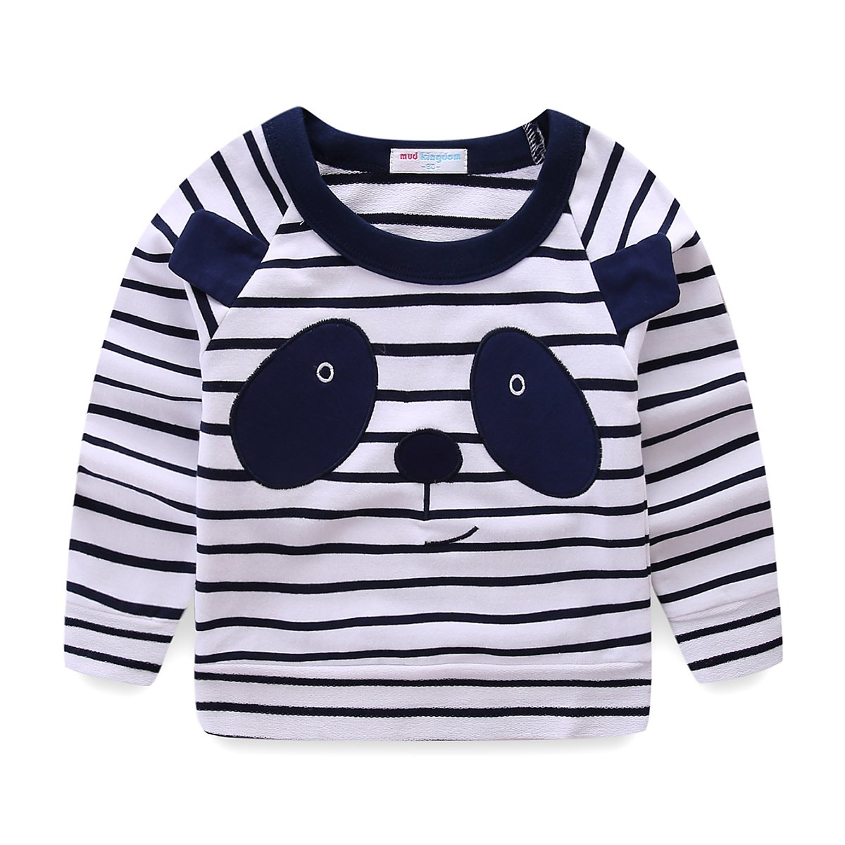 Mud Kingdom Toddler Kids Striped Panda Costume Sweater S-S0202