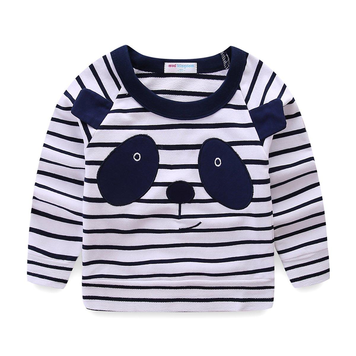 Mud Kingdom Toddler Kids Striped Panda Costume Sweater S-S0202