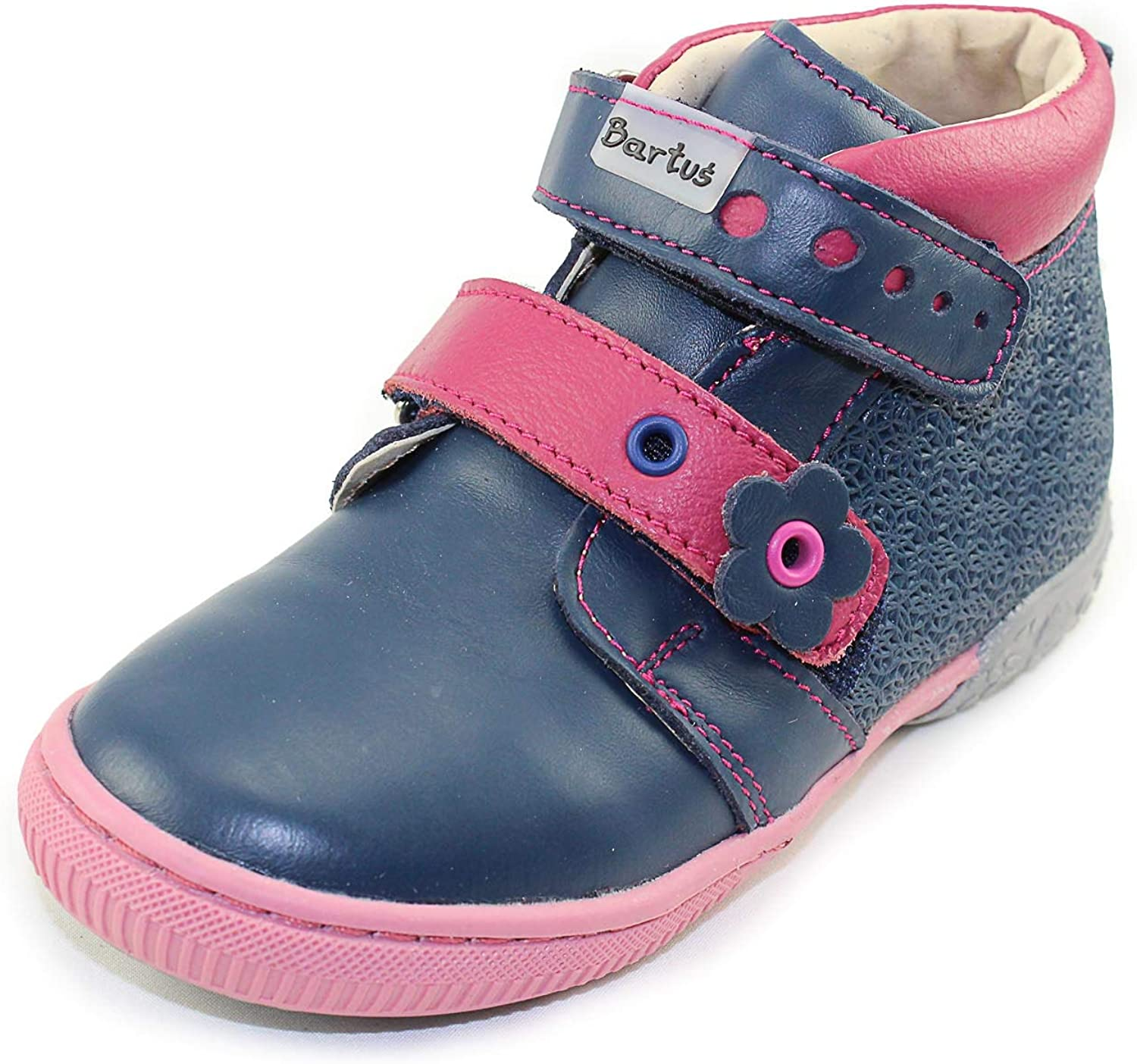 Bartus Girls High Top Leather Shoes