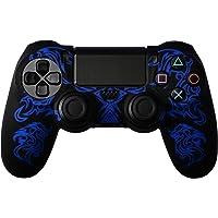 Mcbazel Dragon Pattern Silicon Protect Case Skin Jacket voor PS4 Dualshock 4 Controller Black Blue