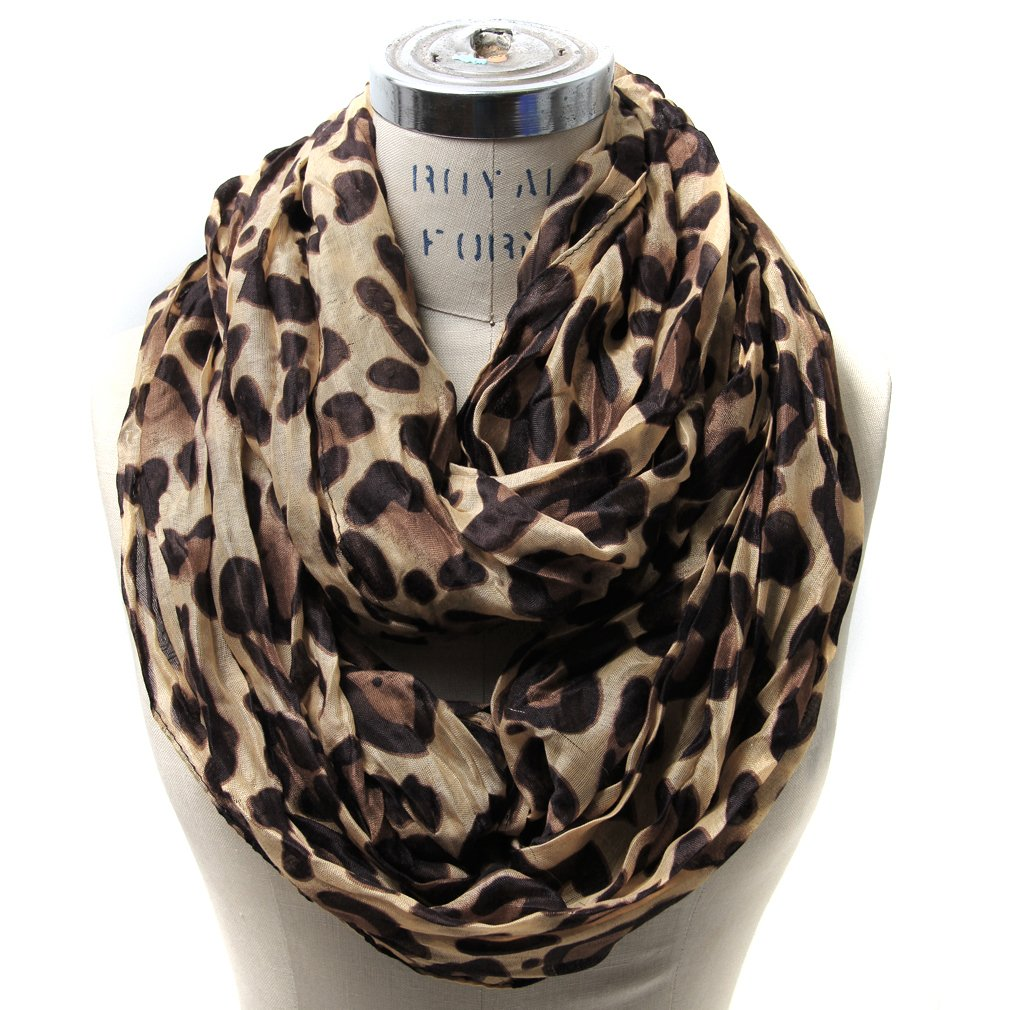 Scarfand's Leopard Infinity Scarf (Brown) at Amazon Women's ...
