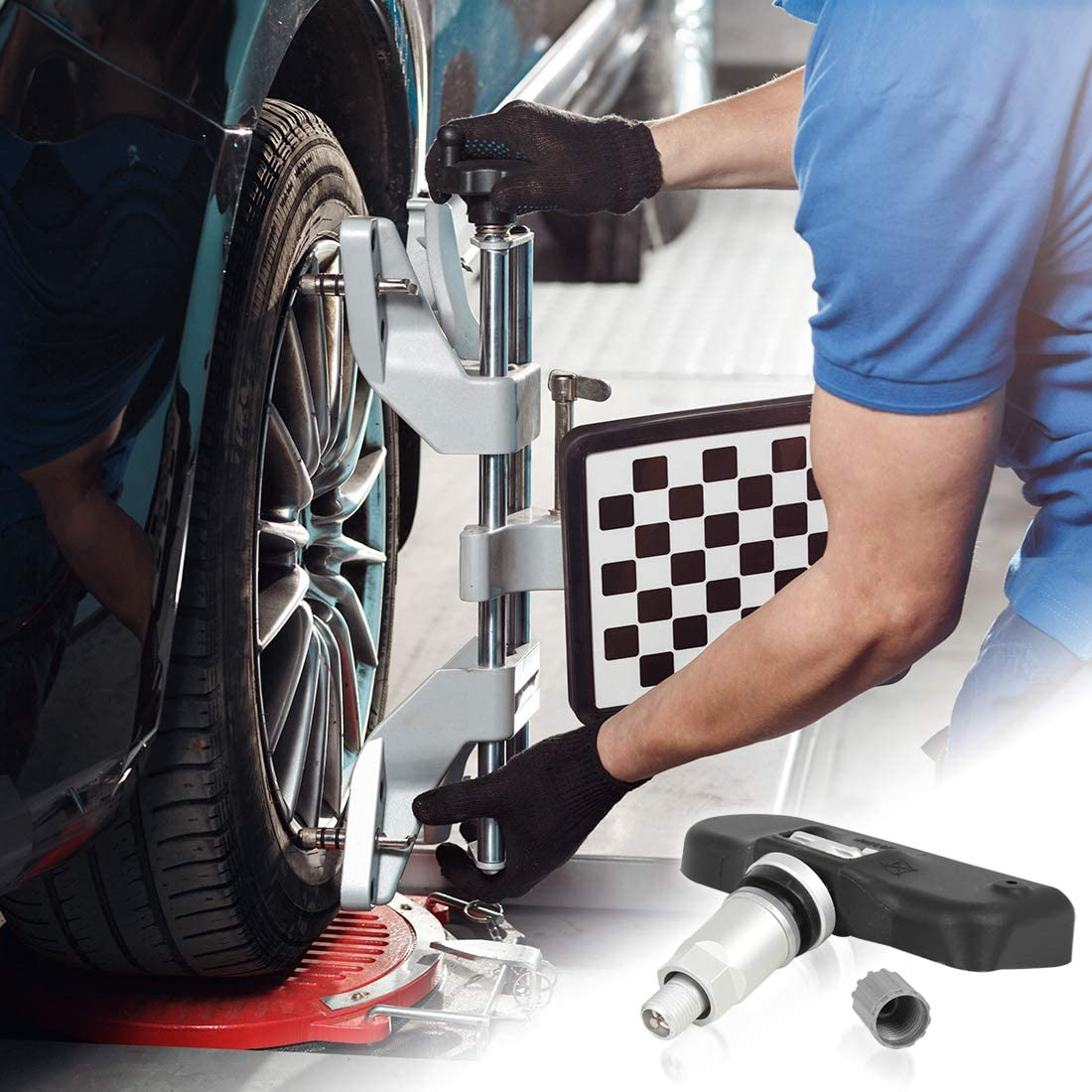 X AUTOHAUX 56053031AD Car Tire Pressure Sensor TPMS 433MHz for Chrsyler 200 2012-2014