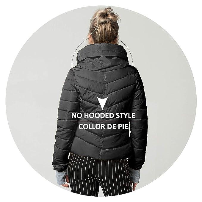 Amazon.com: Slim Cotton Padded Jacket Winter Jacket Short ...