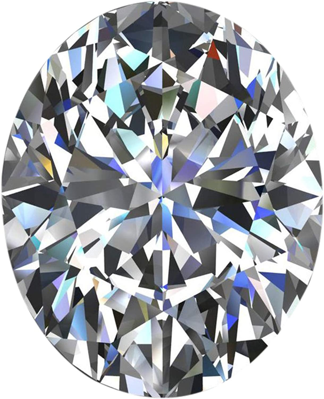 Gemhub VS + Oval Corte Moissanite Blanco E/F Color Moissanite facetado Oval Moissanite Piedra Suelta para el Colgante/Anillo de la joyería