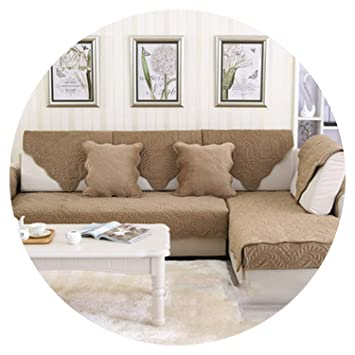 Amazon.com: Camel Coffee Floral Plush Sofa Cover Quilting ...