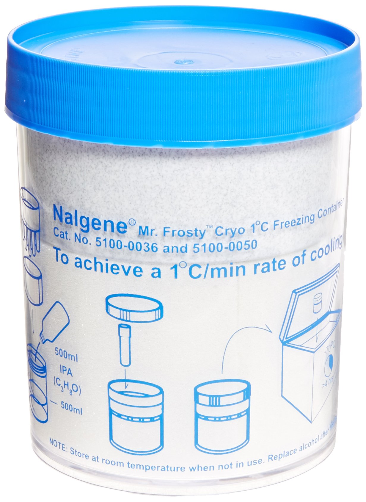 Nalgene 5100-0050 Mr. Frosty Freezing Container, Clear, 12 No. of Tubes, 5ml Tube Capacity, 151mm H x 117mm D