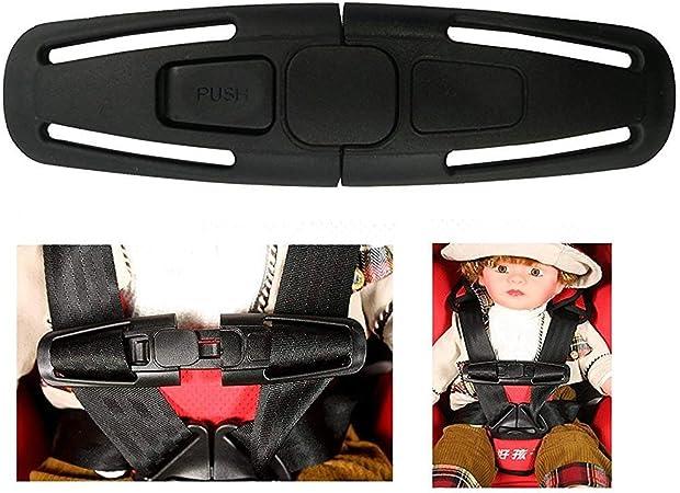 Iskip Autositz Gürtelschnalle Autosicherheitsgurt Gurtschloss Tite Harness Brust Clip Sichere Schnalle Für Baby Kids Schwarz Nur Ein Auto