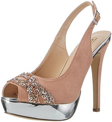 Porto Novo, Chaussures Compensées Femme, Beige, 36 EUMenbur