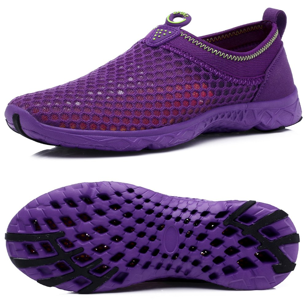 BOLOG Homme Femme Chaussures Aquatiques Chaussure d'eau Mesh Respirante Slip-on Séchage Rapide Aqua Eau Chaussures Piscine et Plage 45-1301