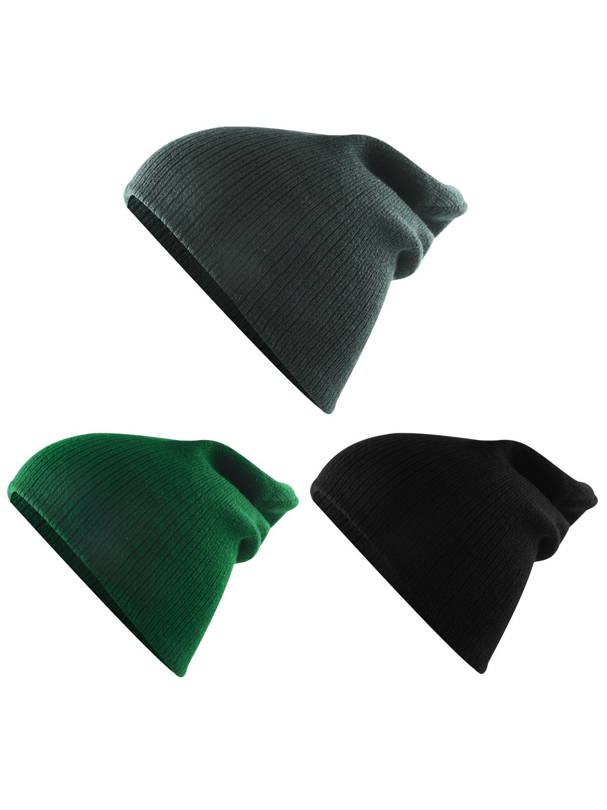 Century Star Kids Boys Girls Fashion Soft Slouchy Stretchy Baggy Hip-hop Slouchy Hat Children Basic Beanie 3 Pack-mix Color