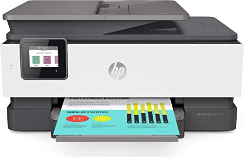 HP OfficeJet Pro 8035 All-in-One Wireless Printer – Includes 8 Months of Ink Delivered to Your Door, Smart Home Office Productivity – Basalt 5LJ23A