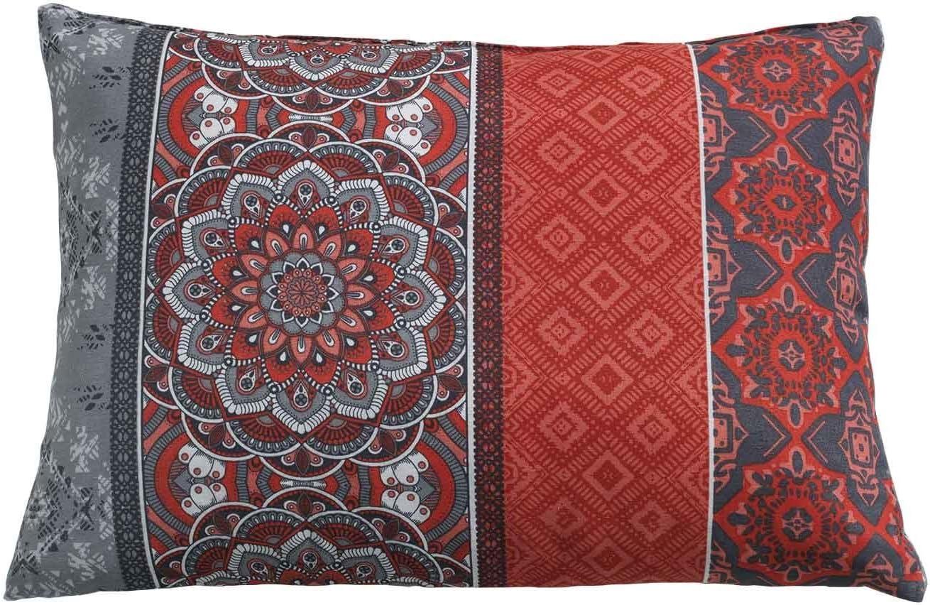 Stuhlkissen Rückenkissen Lounge Kissen für Gartenmöbel Rot Mandala 40x60 cm