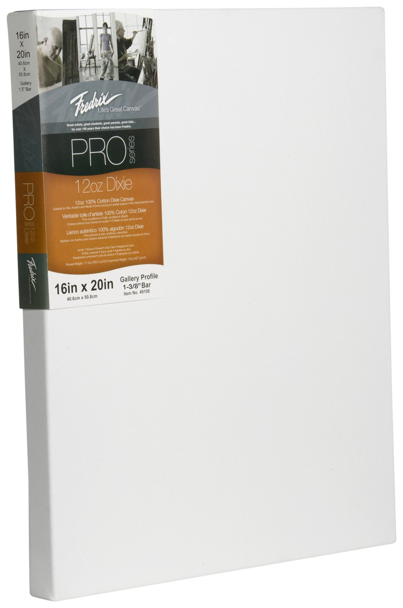 Fredrix 49115 12-Ounce Dixie Gallery Stertched Canvas, 24 by 36-Inch by Fredrix