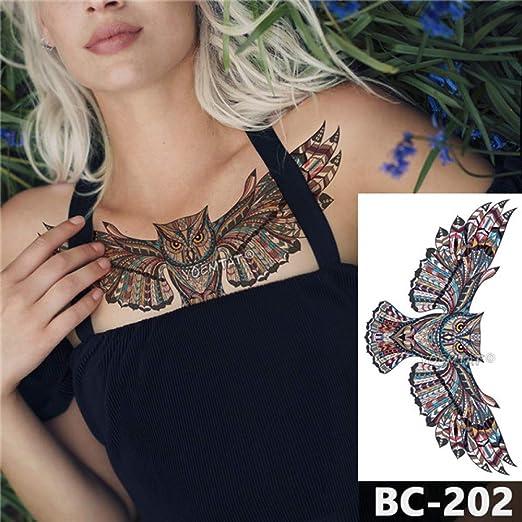 adgkitb 3 Piezas Tatuaje en el Pecho Tatuaje Impermeable Temporal ...