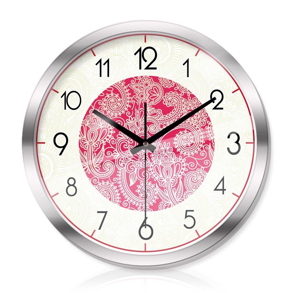 リビングルームのベッドルーム創造的な金属時計の壁時計静かなスキャン知的な電波の壁時計の3世代 LCS (色 : シルバー しるば゜, サイズ さいず : 14 inches) B07FJLJGHKシルバー しるば゜ 14 inches