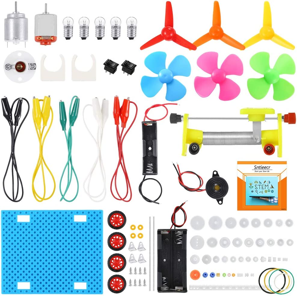 Sntieecr Electric Circuit Learning Kit, Car Model Assemble Physics Science Education Kits for Kids Student DIY STEM Science Lab Experiment Project