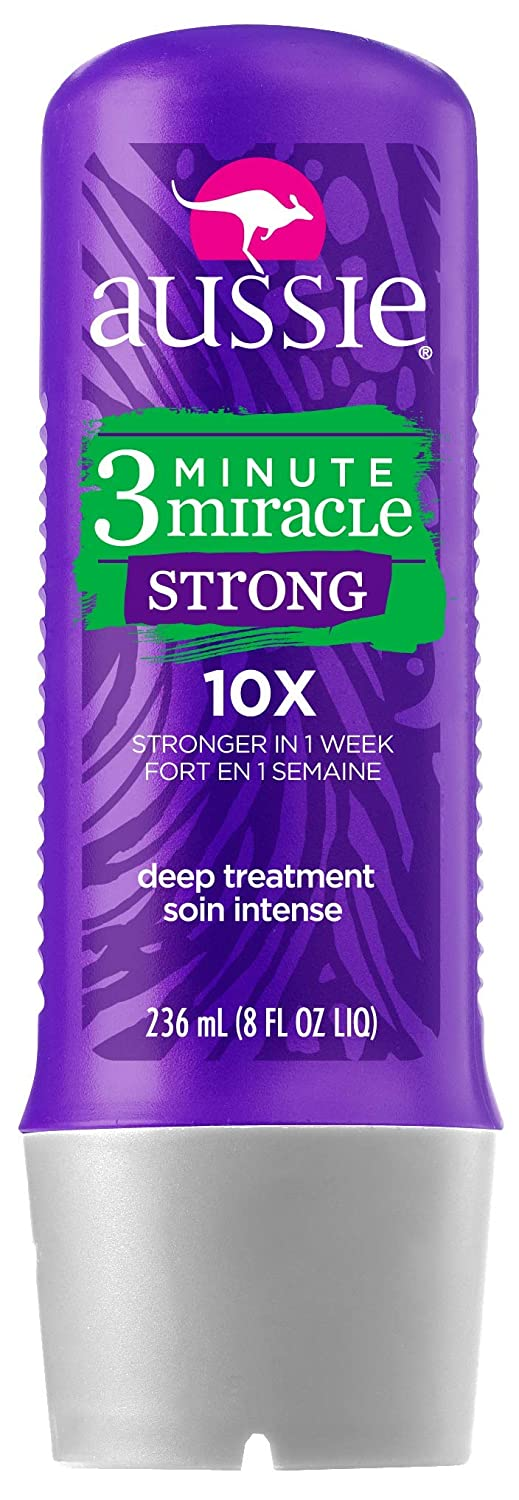 Aussie 3 Minute Miracle Strong Treatment 8 Ounce (236ml) Procter & Gamble Haba Hub NA