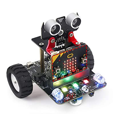 Yahboom Coding Robot for Micro bit STEM Education Kit Kids to Programmable DIY Toy Car with Tutorial for 8+ (Micro:bit NOT Include): Toys & Games