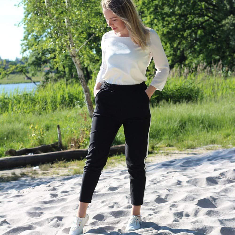 AKDYH Pantalones De Mujer Pantalones A Rayas para Mujer New Fall ...