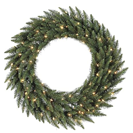 vickerman green frosted bellevue alpine artificial christmas wreath small - Small Christmas Wreaths