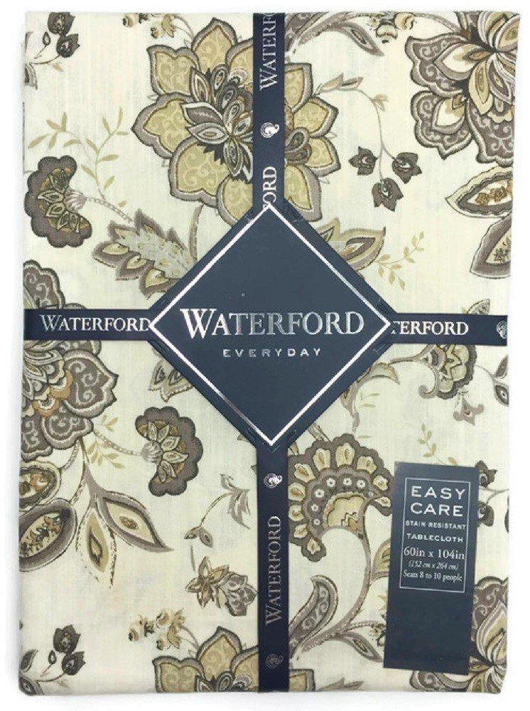 Waterford Everyday Elena Neutral Tablecloth - 60 x 104