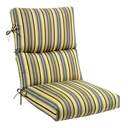 Amazon Com Foster Metallic Sunbrella Highback Patio Chair Cushion