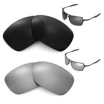 463d74b136 Walleva Polarized Black + Titanium Replacement Lenses For Oakley Inmate  Sunglasses