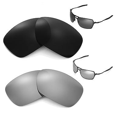 5de69db4dd Walleva Polarized Black + Titanium Replacement Lenses For Oakley ...