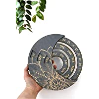 DRALO Eeuwigdurende kalender hout, houten maan eeuwigdurende kalender, DIY verstelbare houten kalender verstelbare…