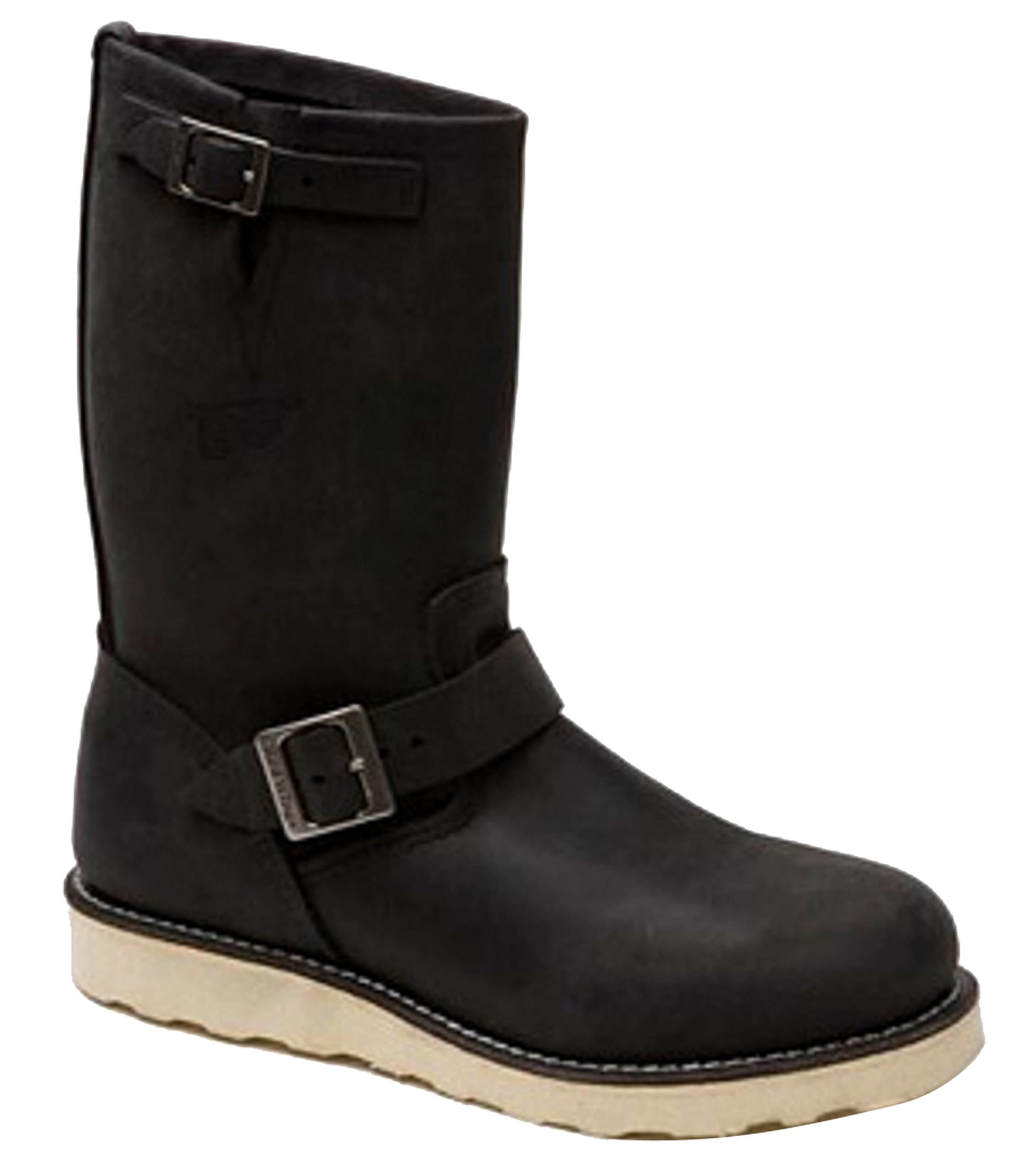 Red Wing Shoes 02974-2 Black 11'' Leather Engineer Boots (4 US) UK 3 EU 35.5 Width D (Medium) by Red Wing Shoes
