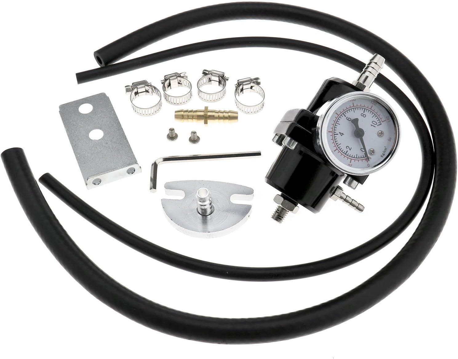 Erstellen Ideal Kraftstoff Druck Regler 140PSI /Öl Gauge Aluminium Verstellbar mit Haus Kits
