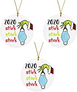 2020 Christmas Ornament, 2020 Stink Stank Stunk Ornament, Unique Christmas Hanging Ornament for Christmas Tree Decorations, Christmas Decorating Set Creative Gift for Family Friends (3)