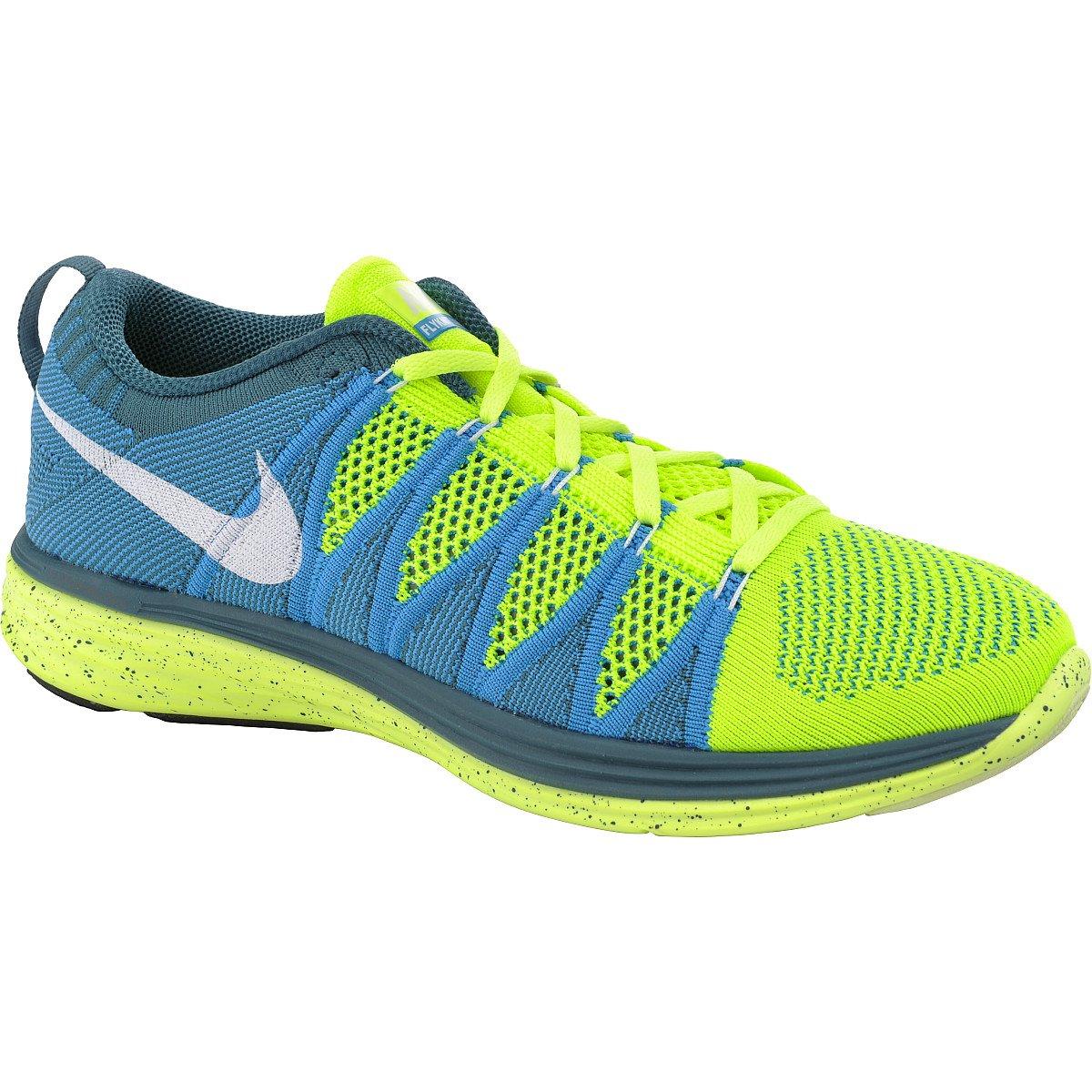 8422232e52 Galleon - Nike Flyknit Lunar2 Mens Running Shoes 620465-714 Volt 7 M US