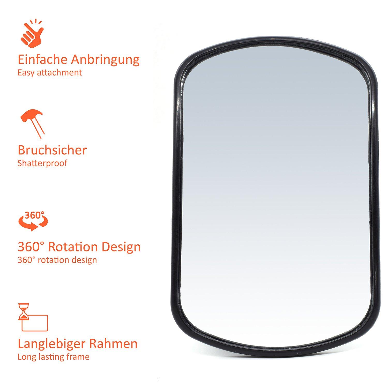 girevole 16,8 x 10,5 cm con 2 anni di garanzia soddisfatti o rimborsati facile da montare CARTO Specchietto retrovisore per seggiolini per una piacevole sensazione di completa sicurezza