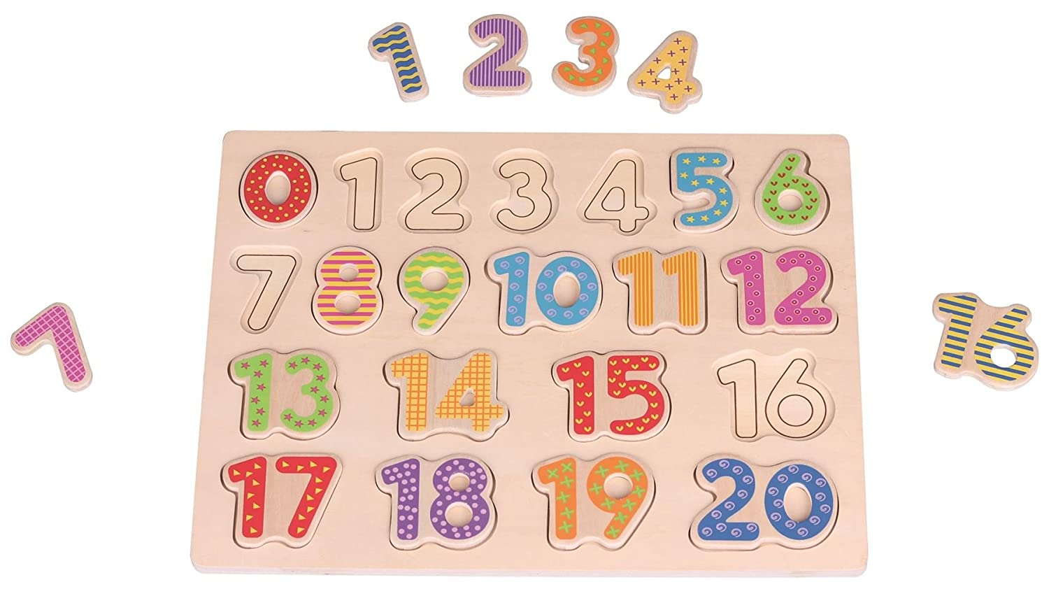 Lelin Children Kids Wood Wooden Creative Education Number Puzzle Board Toy L20001