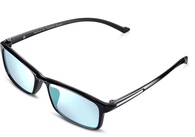 Titanium Coated Anti UV Pilestone Color Blind Glasses for Men Model TP-012 for Red//Green Blindness