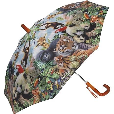 Galleria Animal Kingdom Childrens Stick Umbrella
