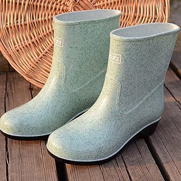 En El Tubo Botas Antideslizantes Moda Urbana Zapatos De Goma Modelos Femeninos Adultos Con Zapatos De