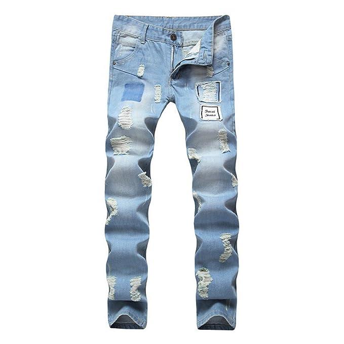 Amazon.com: George gubia nuevo Jeans azul cielo recto para ...