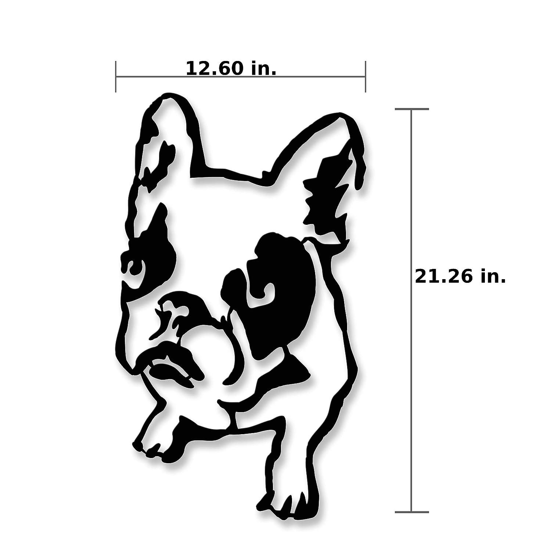 Ada Home D/écor MWAB1151 Bulldog Metal Wall Art 12.6 x 21.26 Black Ada Home Decor
