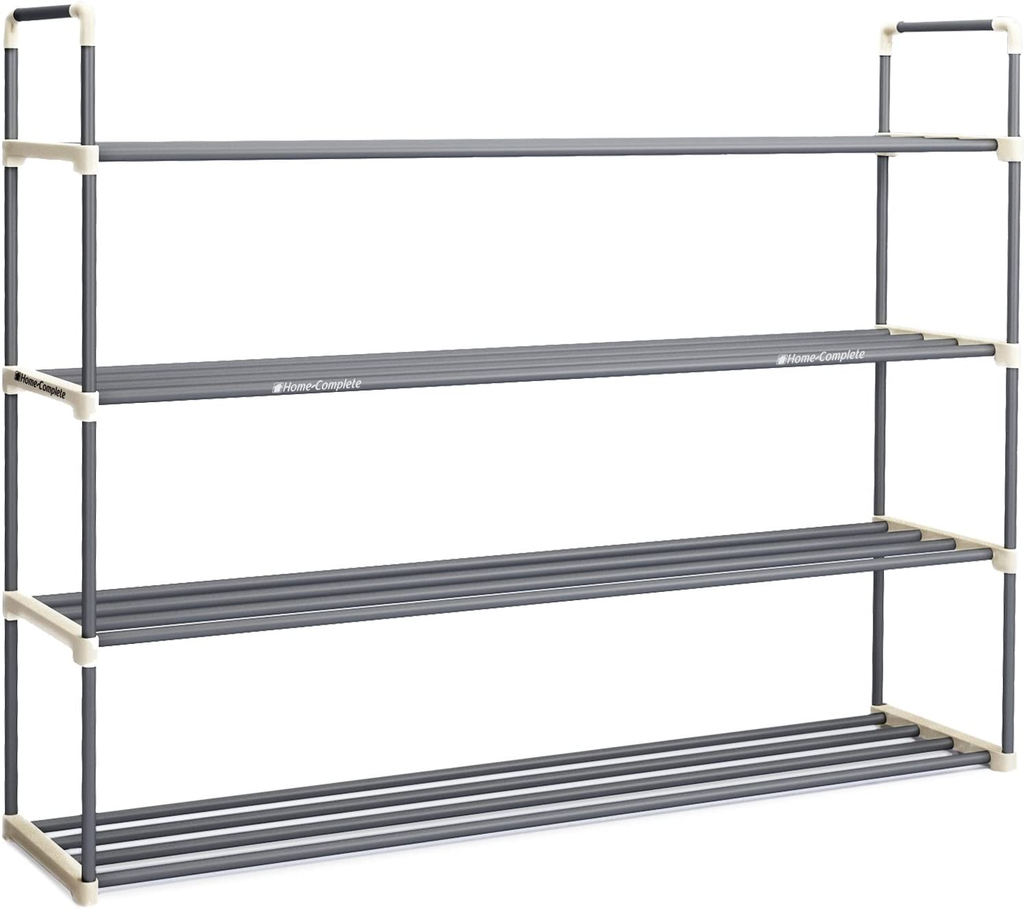 and Closet- Space Saving Storage and Organization by Home-Complete Hallway Shoe Rack with 4 Shelves-Four Tiers for 24 Pairs-For Bedroom Entryway