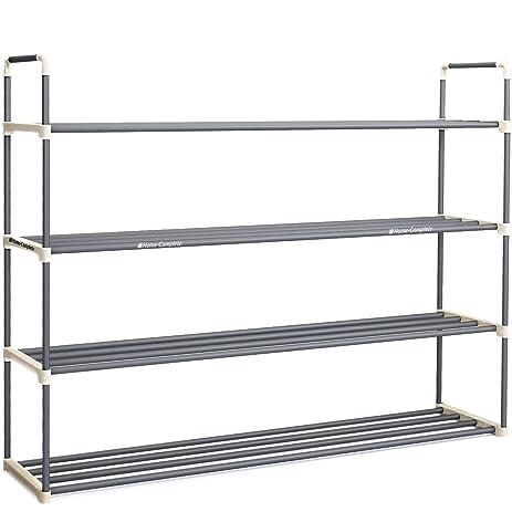 4tier shoe rack organizer storage bench holds 24 pairs organize your closet