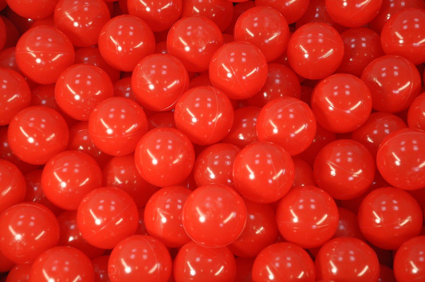 BälleBad Bälle - Rot - 500 Stück - CE-Kennzeichnung - 75mm