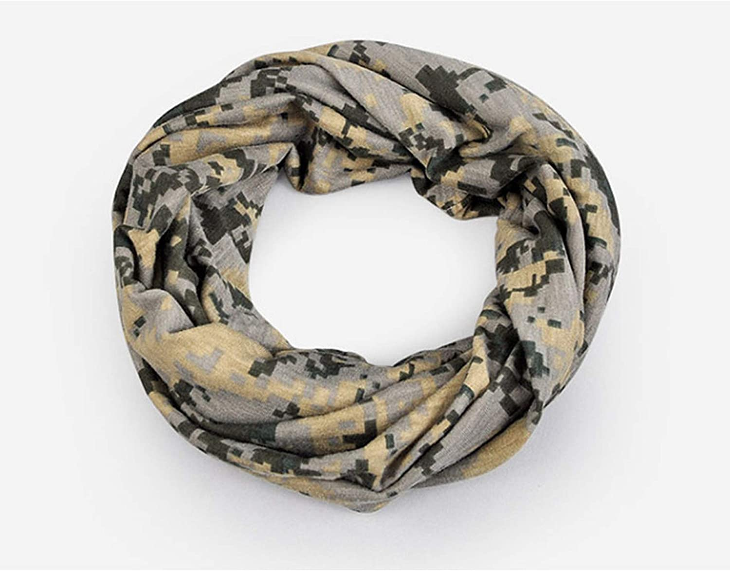 JHKSO Men Winter Casual Beanies Hat Military Army Camouflage Thin Cotton Skull Cap Scarf Camo Autumn Unisex
