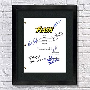 The Flash TV Autographed Signed Reprint 8.5x11 Script UNFRAMED - Grant Gustin, Candice Patton, Danielle Panabaker, Rick Cosne