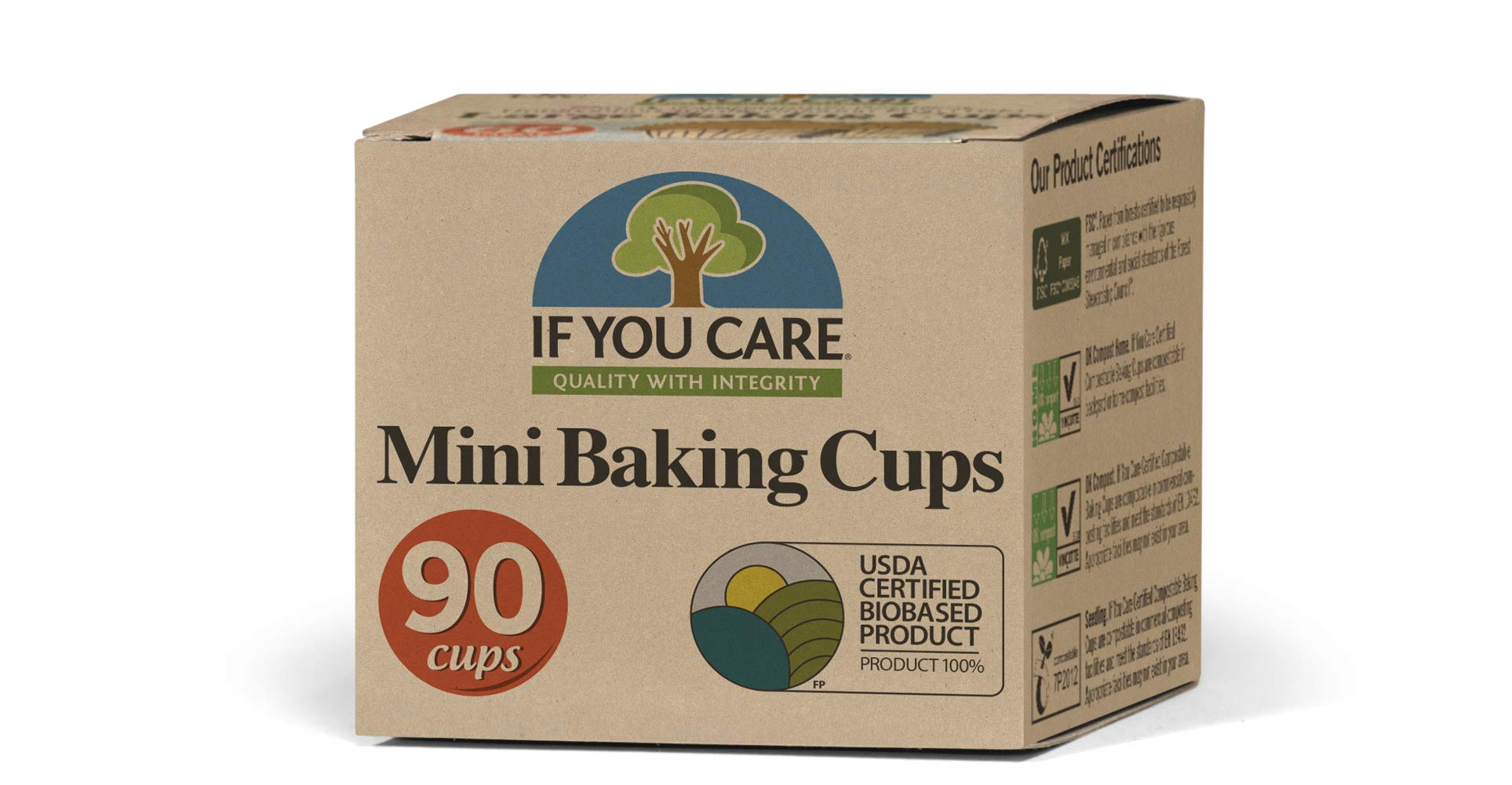 IF YOU CARE Mini Baking Cups, 90-Count Packages (Pack of 24) by If You Care