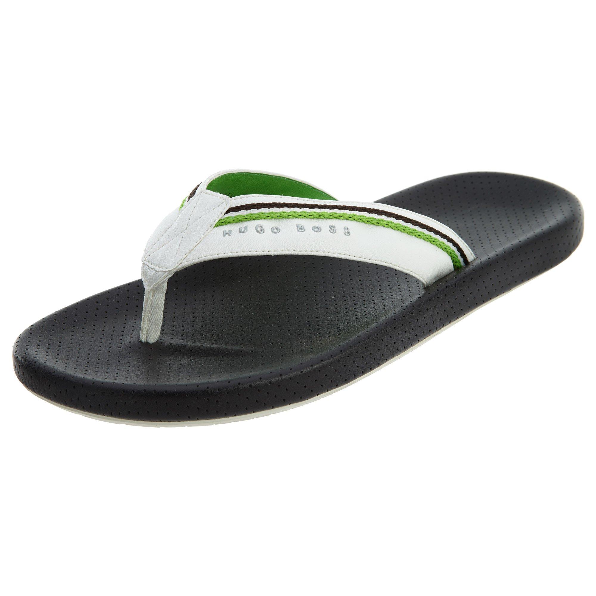 BOSS Green by Hugo Boss Men's Shoreline Fresh Thong Sandal Flip Flop, Black, EU 41-42/8-9 M US by Hugo Boss