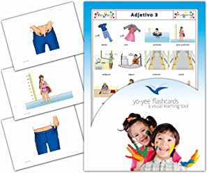 Tarjetas de vocabulario - Adjetivo 3 - Adjectives Flash Cards in Spanish for Kids, Toddlers