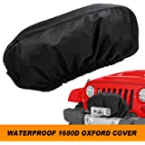 Seven Sparta Winch Cover Heavy Duty for Electric Winch Up to 17500 Lbs, Waterproof Winch Protector, 1680D Oxford…